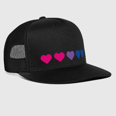 Bi-Heart - Trucker Cap