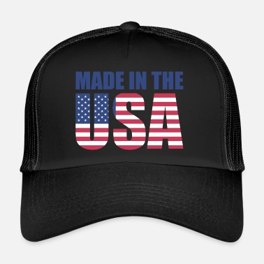 Made In Usa USA Ameryka Flag Stars and Stripes Made in USA - Trucker Cap