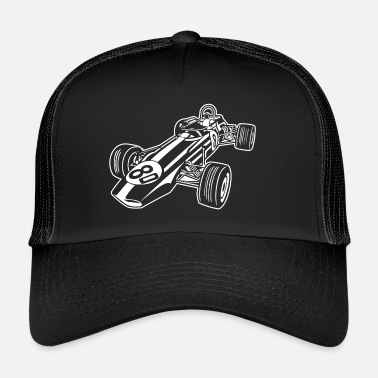 Race Car Race Car / Race Car 02_white - Trucker Cap