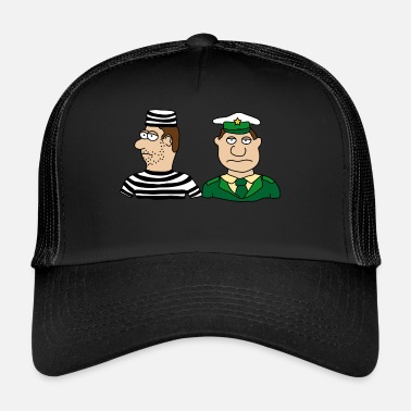 Burglar Police officer thief convict burglar uniform - Trucker Cap
