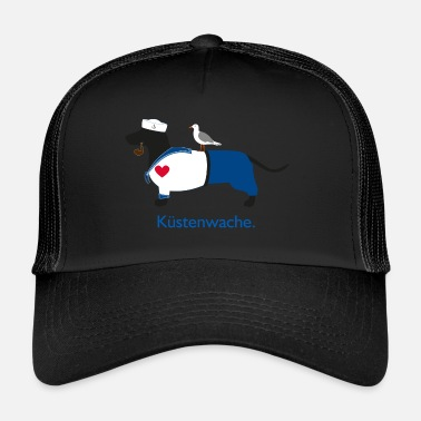 Baywatch Dachshund Coast Guard - North German Baywatcher - Trucker Cap