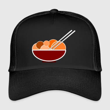 Dinner Chinese dinner dinner with chopsticks - Trucker Cap