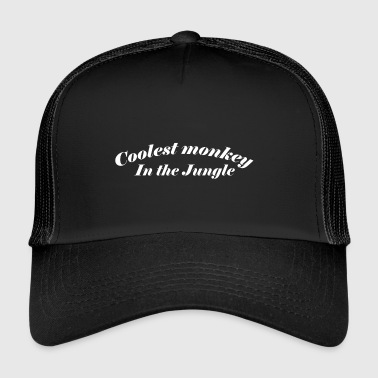 Singe Le singe le plus cool de la jungle - Trucker Cap