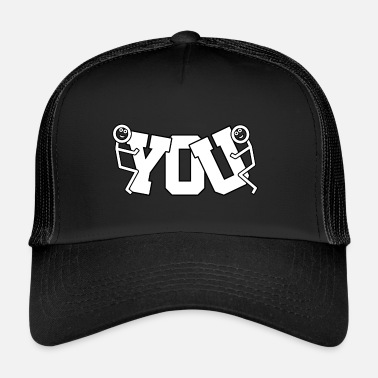 Fuck Fuck You Cap Logo # 1 - Trucker Cap