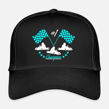 Race Car Driver race car - Trucker Cap