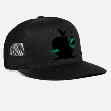 apple vs worm - Trucker Cap