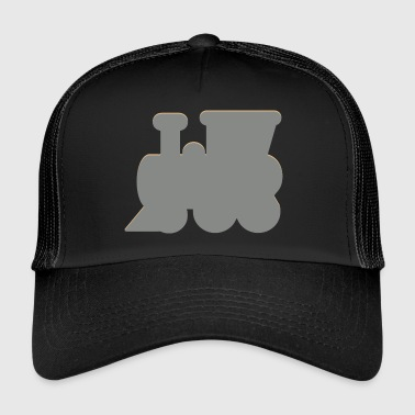 Steam locomotive, locomotive - Trucker Cap