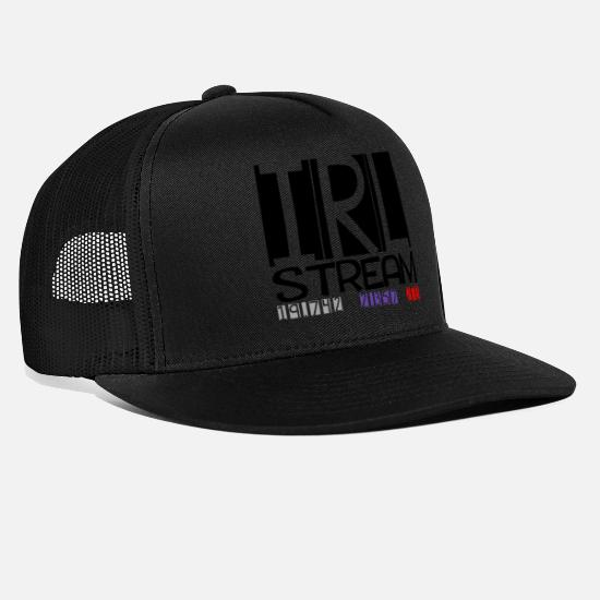 Play Caps & Hats - IRL Stream Twitch - Trucker Cap black/black