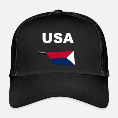 Rowing USA Rowing Rowing Aviron United States Rowing - Trucker Cap