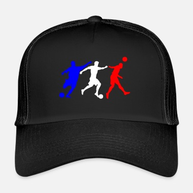 Bleu Blanc Rouge Football bleu blanc rouge - Trucker Cap