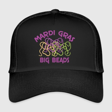 Mardi Gras Big Beads - Trucker Cap
