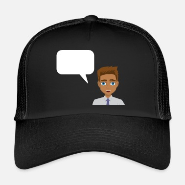 Figure Of Speech Man with speech bubble - Trucker Cap