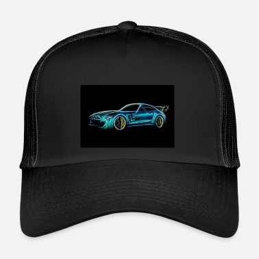 Race Car Car racing car sketch - Trucker Cap