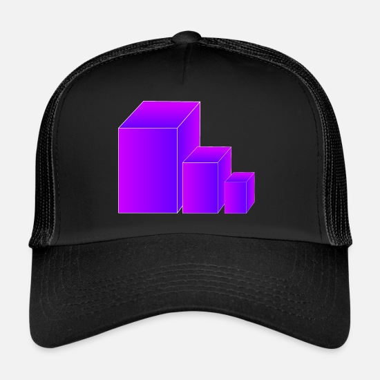 Noble Caps & Hats - 3D - Trucker Cap black/black