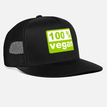 Love 100% Vegan - Vegan - Vegan - Animal Love - Trucker cap