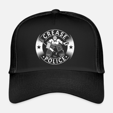 Hockey Crease Police Hockey Goalie - Trucker Cap