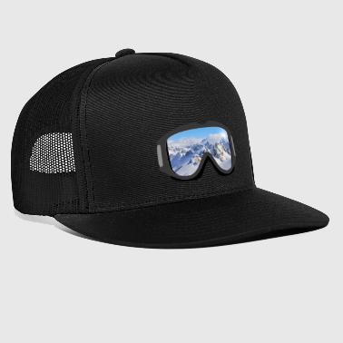 Ski Goggles Mountains Snow Boarden Powdern Gift - Trucker Cap