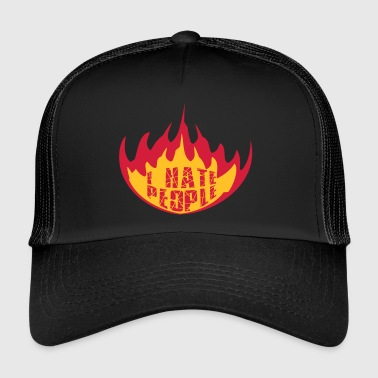 Firefighter fire flames hot burn cracks scratch prohibited - Trucker Cap