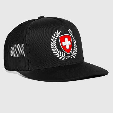 Swiss coat of arms red-white with cross gift - Trucker Cap