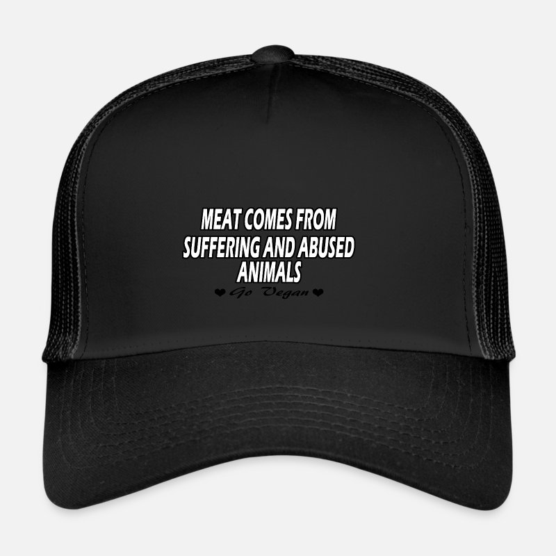 Vegan Caps & Hats - Go Vegan! - Trucker Cap black/black