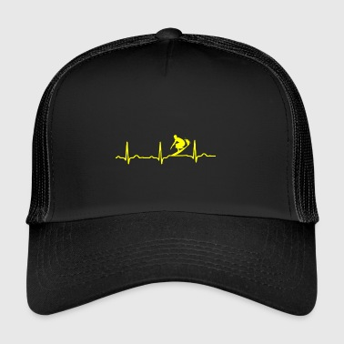 Surfer ECG HEARTBEAT SURF jaune SURFER - Trucker Cap
