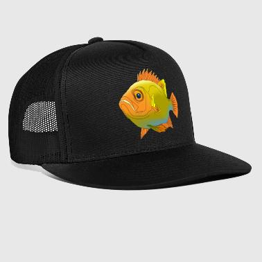 Fish perch aquarium ocean sea water fishing - Trucker Cap
