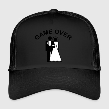 Game Over Just Married - Trucker Cap