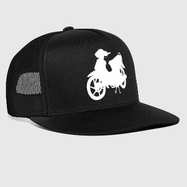 Silhuett moped moped scooter - Trucker Cap