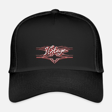Pinstriping Vintage 3D red, Stylish design with pinstripes - Trucker Cap