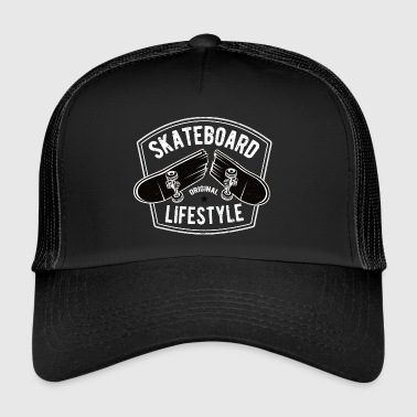 Skateboard Old School Boarder Skater Shirt cadeau - Trucker Cap