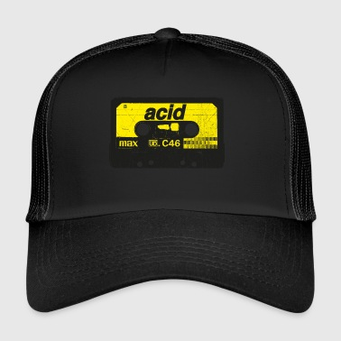 Cassette Acide Rave Vintage - Techno Synth Nerd - Trucker Cap