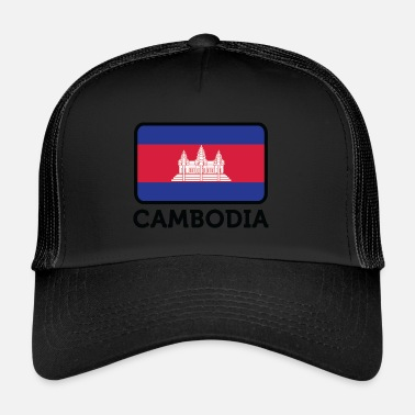 Cambodge Drapeau national du Cambodge - Trucker Cap