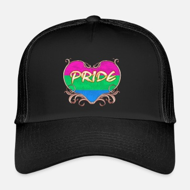 Gay Orgueil gay coeur de t-shirt gay polyjuste gay t sh - Trucker Cap