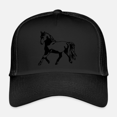 Trot Proud, gathered horse in trot - Trucker Cap