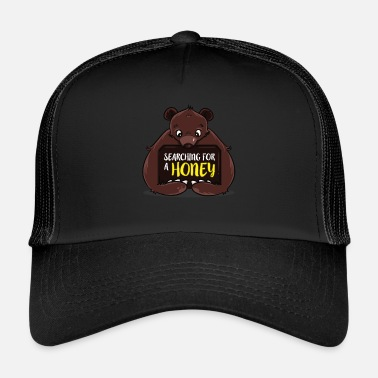 Partner Sweet mouth bear funny honey single partner - Trucker Cap