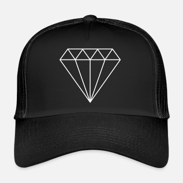 Diamanter hvid diamant / diamant / diamanter / smykker - Trucker Cap