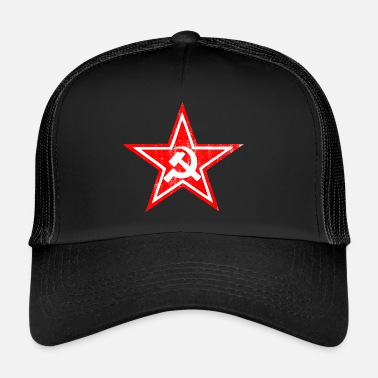 Communist Hammer sickle communist star - Trucker Cap