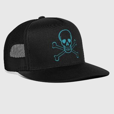 Cranio in pirata idea regalo bandiera - Trucker Cap
