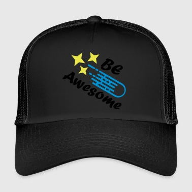 Comet Be Awesome shooting star comet - Trucker Cap