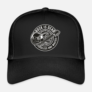 Rock N Roll Rock Is Dead Instrument Musik Gitarre Gitarrist - Trucker Cap