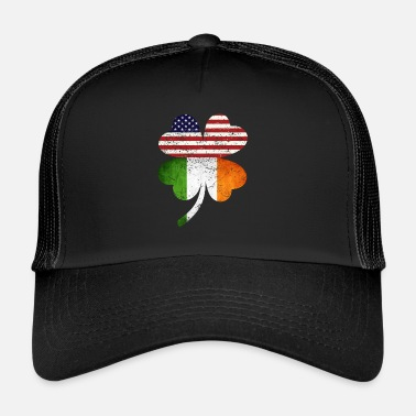 Day Irland USA Flagge St. Patricks Day T Shirt Grunge - Trucker Cap