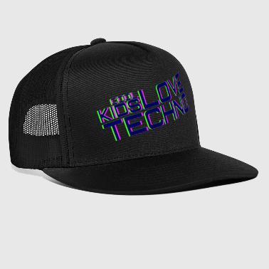 Cool kids love techno - Gorra de camionero