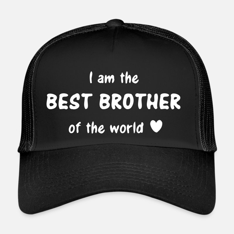 Am Caps & Hats - I am the best brother of the world - brothers love - Trucker Cap black/black