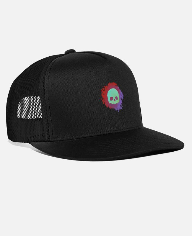 Make A Mess Caps & Hats - Blood Skull - Trucker Cap black/black