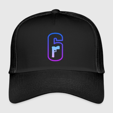 LOGO RAINBOW SIX SIEGE COULEUR FLASHY - Trucker Cap