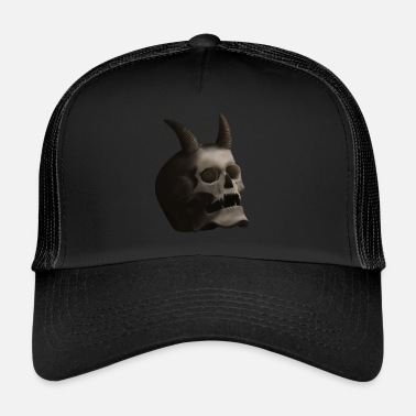 Devil Horns Dark Skull with Devil Horns - Trucker Cap
