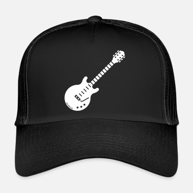 Open &amp Electric Guitar (Solidbody Guitar / Rock Music) - Trucker Cap