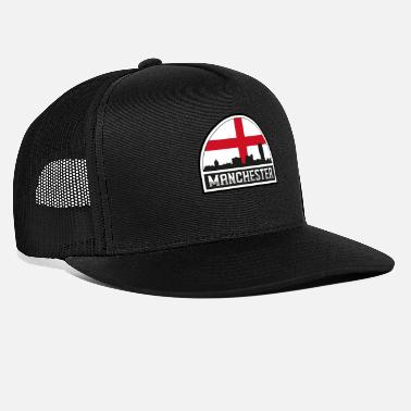 Cute Country T Manchester England Skyline Silhouette Englische Flagge - Trucker Cap