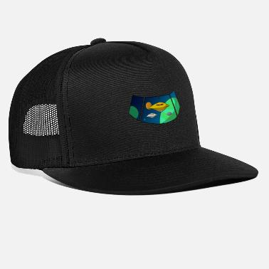 Rocket Space UFO Alien Space Galaxy - Trucker cap