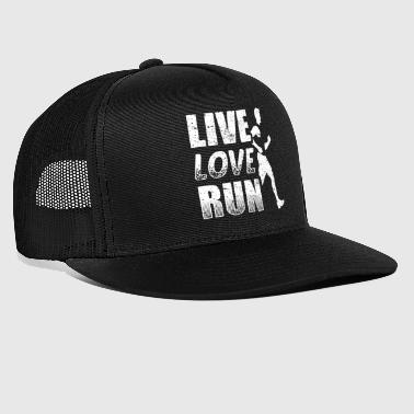 Funny Running Runner Shirt Live Love Run - Trucker Cap